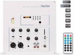 Fonestar WA-4100 - nastěnný vestavný zesilovač s mix pultem a USB/MP3