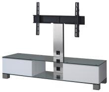 MD 8140  C-INX-WHT - stolek čirá skla,nerez,bílá