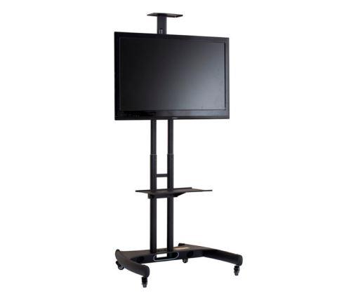 PR 2000 BLK - kompletně vybavený vozík pro videokonferenci pro obrazovky až 60