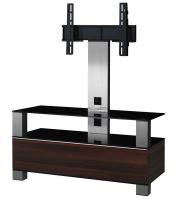 MD 8953 C-INX- WNT - stolek čirá skla,nerez,ořech