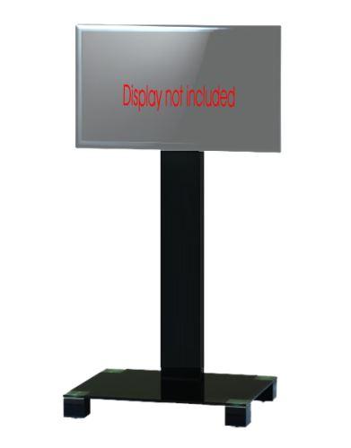 PR 2550 B-HBLK - stojan TV, černé sklo, černá noha (2 díly  1/2, 2/2)