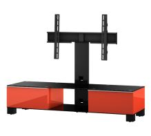 MD 8140  B-INX-WNT - stolek černá skla,nerez,ořech