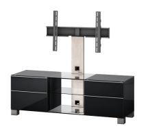 MD 8340 B-INX-BLK- Tv stolek černá-nerez-černá