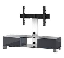 MD 8140  C-INX-BLK - stolek čirá skla,nerez,černá