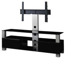MD 8143 B-INX-BLK  -   stolek černá skla,nerez, černá