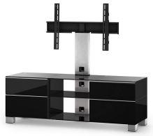 MD 8240 B-INX-BLK - stolek černá - nerez - černá