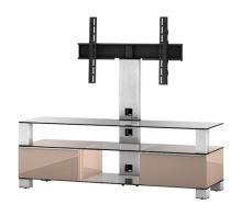 MD 8143 C-INX-WHT  -   stolek čirá skla, nerez, bílá