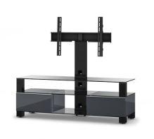 MD 8143 B-BLK-BLK  -   stolek černá skla,černý, černá